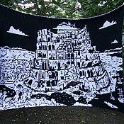 """Картины и панно ручной работы. Ярмарка Мастеров - ручная работа Гобелен""""Вавилонская башня"""". Handmade."""