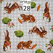 28. Салфетка для декупажа. Кролики
