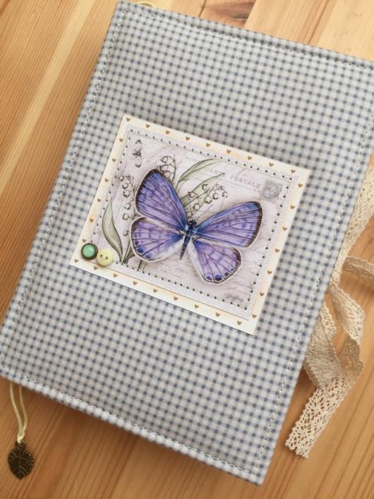 """Блокноты ручной работы. Ярмарка Мастеров - ручная работа. Купить Блокнот """"Бабочка"""". Handmade. Блокнот ручной работы, скрап материалы"""