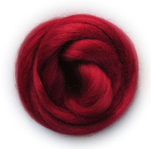 Валяние ручной работы. Ярмарка Мастеров - ручная работа. Купить Шерсть Wensleydale окрашенная - цвет Бордовый. Handmade. Бордовый