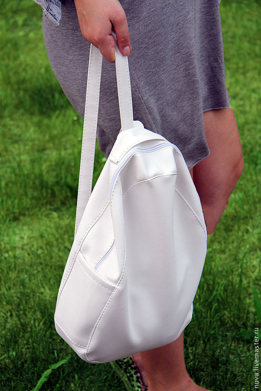 Рюкзаки ручной работы. Ярмарка Мастеров - ручная работа. Купить Белый рюкзак. Handmade. Белый, рюкзак для девочки, недорогой рюкзак