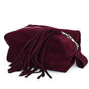 Сумки и аксессуары handmade. Livemaster - original item Cosmetic Bag Dressing Case Suede Leather Organizer Case Pencil Case Suede. Handmade.