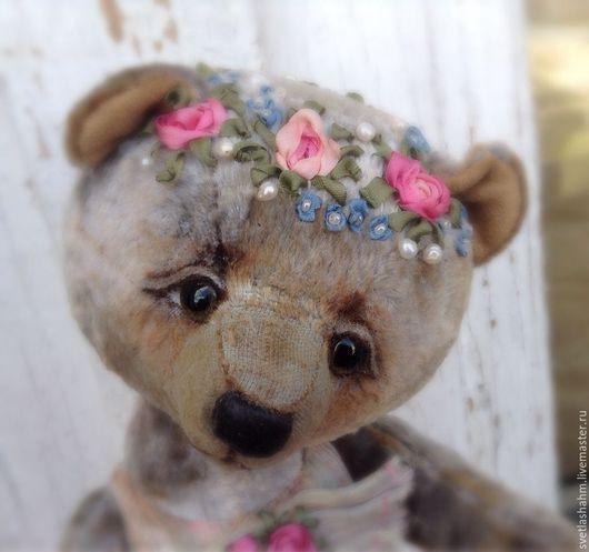 Мишки Тедди ручной работы. Ярмарка Мастеров - ручная работа. Купить Устинья. Handmade. Серый, подарок на любой случай, лён