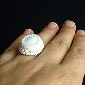 Украшения ручной работы. Ярмарка Мастеров - ручная работа Кольцо с белым агатом. Handmade.