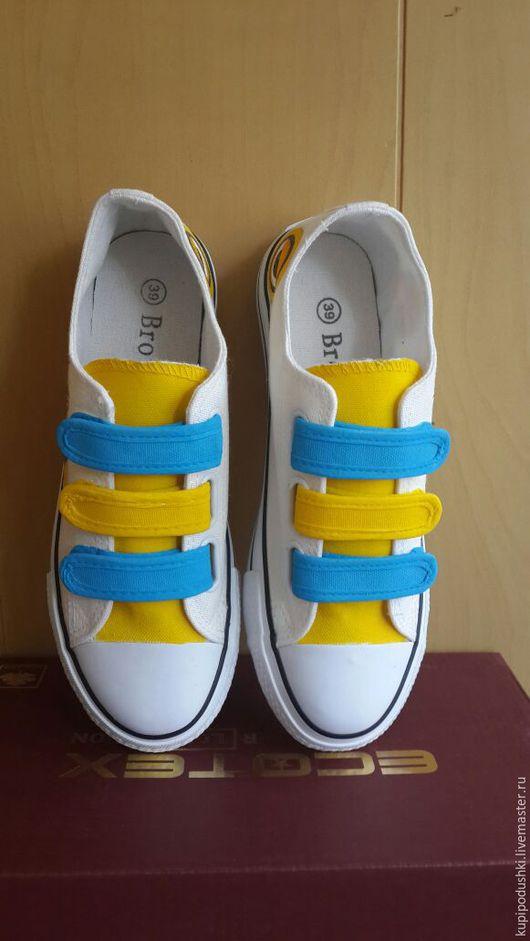 Обувь ручной работы. Ярмарка Мастеров - ручная работа. Купить Модные кеды с росписью. Handmade. Комбинированный, Кеды на заказ