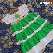 Работы для детей, ручной работы. Ярмарка Мастеров - ручная работа платье новогодние елочка. Handmade.