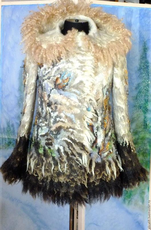 Пиджаки, жакеты ручной работы. Ярмарка Мастеров - ручная работа. Купить Валяный жакет из шерсти...Накануне Рождества. Handmade. Абстрактный