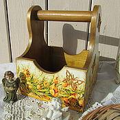 """Для дома и интерьера ручной работы. Ярмарка Мастеров - ручная работа Корзинка  """"Весеннее лукошко"""" для кухни декупаж. Handmade."""