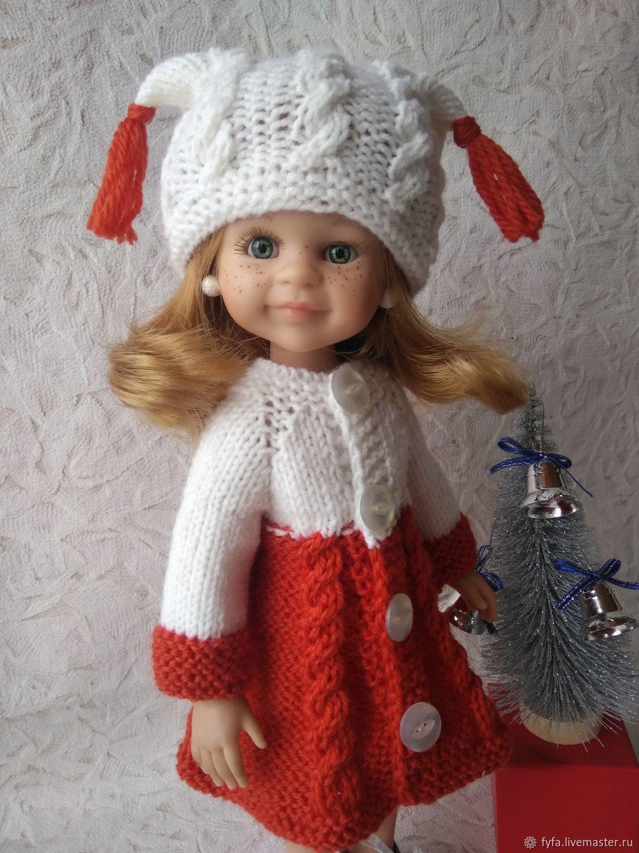 Одежда для кукол Паола Рейна. Пальто и шапочка, Одежда для кукол, Самара,  Фото №1