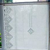 Для дома и интерьера handmade. Livemaster - original item Openwork curtains curtains linen handmade lace embroidery stitch. Handmade.