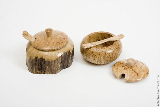 Кухня ручной работы. Ярмарка Мастеров - ручная работа. Купить Солонка из карельской березы. Handmade. Бежевый, деревянная солонка
