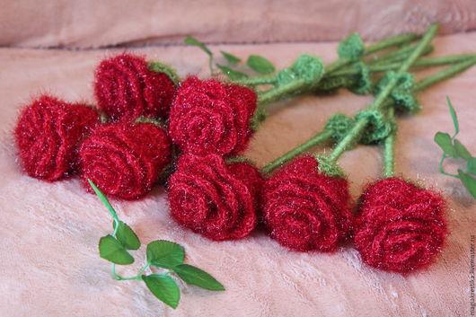 Букеты ручной работы. Ярмарка Мастеров - ручная работа. Купить Вязанные цветы розы. Handmade. Комбинированный, цветы и флористика