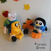 Мягкие игрушки ручной работы. Ярмарка Мастеров - ручная работа Adventure Time Финн и Джейк. Handmade.