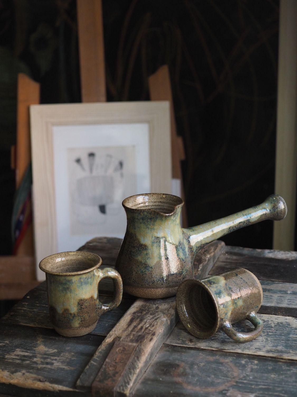 Турка керамическая, набор для кофе, турка с кружками, турка на огонь, Турки, Щелково,  Фото №1