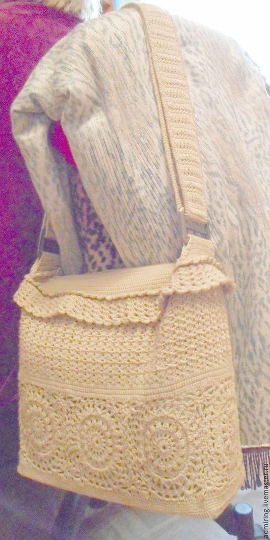 Женские сумки ручной работы. Ярмарка Мастеров - ручная работа. Купить Сумка. Handmade. Золотой, сумка женская, вязаная сумка