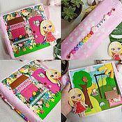 Куклы и игрушки handmade. Livemaster - original item Large doll house made of felt, 92 detachable parts. Handmade.