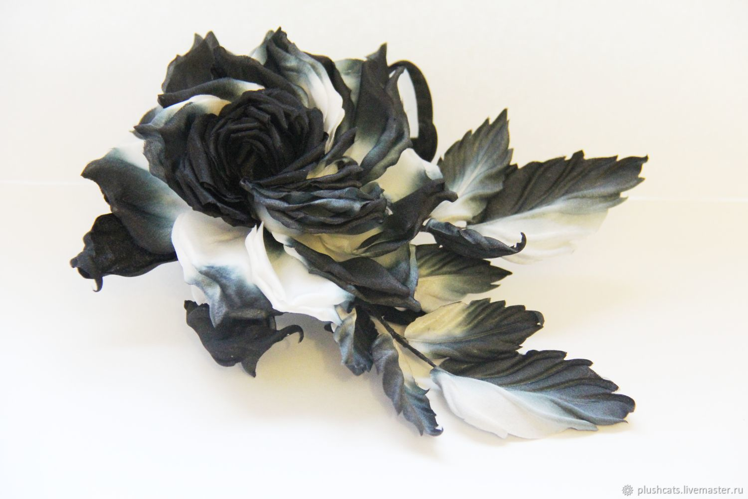 Rose ' Black and white', Brooches, Moscow,  Фото №1