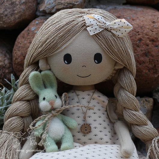 Коллекционные куклы ручной работы. Ярмарка Мастеров - ручная работа. Купить Юленька  текстильная кукла. Handmade. Лен, текстильная кукла