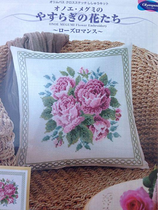 Вышивка ручной работы. Ярмарка Мастеров - ручная работа. Купить Набор для вышивания подушки  Olympus (Япония). Handmade. Вышивка