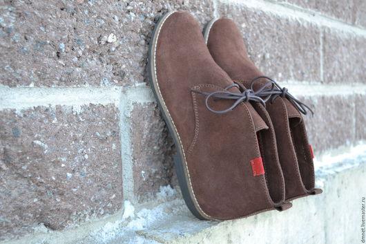 Обувь ручной работы. Ярмарка Мастеров - ручная работа. Купить Ботинки женские на шнурочках. Handmade. Коричневый, удобная обувь