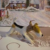 Подарки к праздникам ручной работы. Ярмарка Мастеров - ручная работа Фокс - собачка валяная. Handmade.