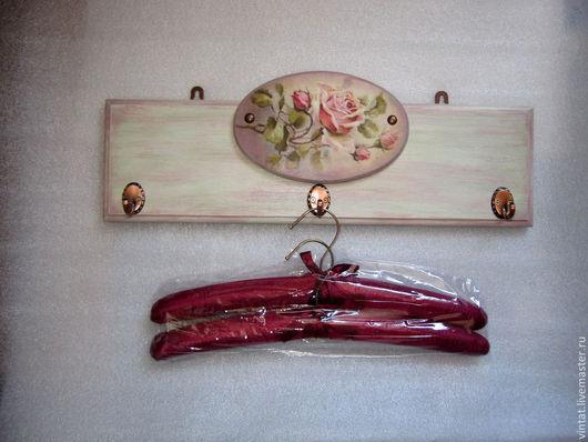"""Прихожая ручной работы. Ярмарка Мастеров - ручная работа. Купить Вешалка с плечиками """"Акварель...."""". Handmade. Вешалка, подарок женщине"""