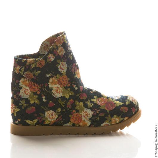 Обувь ручной работы. Ярмарка Мастеров - ручная работа. Купить Летние ботинки 8-302 (ВК). Handmade. сапоги женские