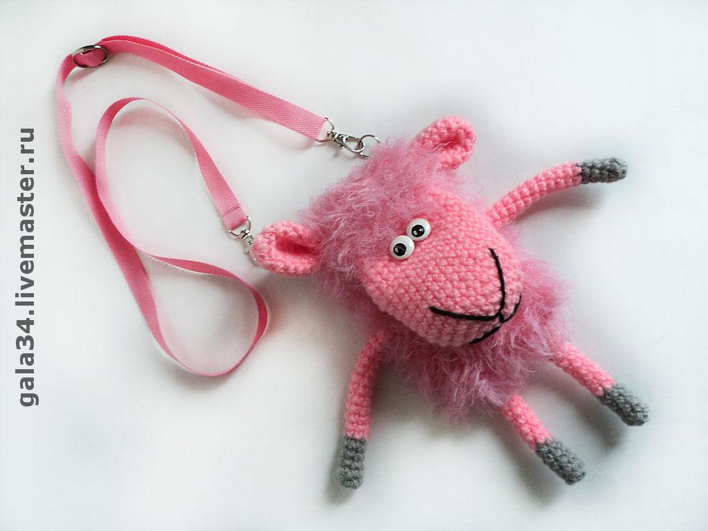 сумочка чехол для телефона овечка вязаный купить в интернет