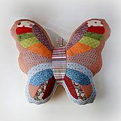 Для дома и интерьера handmade. Livemaster - original item Butterfly toy-pillow made of fabric and artificial fur. Handmade.