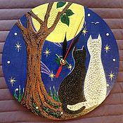 Часы классические ручной работы. Ярмарка Мастеров - ручная работа Часы Тихий вечер. Handmade.