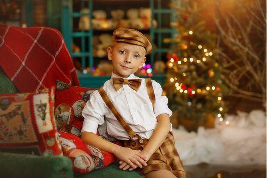 Одежда для мальчиков, ручной работы. Ярмарка Мастеров - ручная работа. Купить Ретро комплект для мальчика: шорты и подтяжки, кепка, бабочка. Handmade.