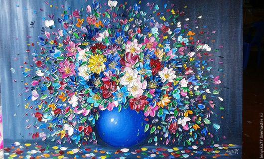 Картины цветов ручной работы. Ярмарка Мастеров - ручная работа. Купить Краски лета   50х70см. Handmade. Комбинированный, картина маслом