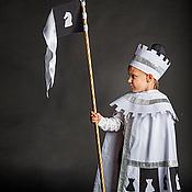Работы для детей, ручной работы. Ярмарка Мастеров - ручная работа Белый Ферзь (карнавальный костюм). Handmade.