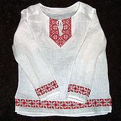 Народные рубахи ручной работы. Ярмарка Мастеров - ручная работа Рубаха льняная детская Алатырь. Handmade.