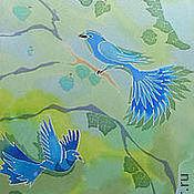 Аксессуары ручной работы. Ярмарка Мастеров - ручная работа Синие птицы. Handmade.