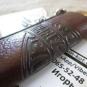 Сумки и аксессуары handmade. Livemaster - original item Leather case-keychain for a lighter with the Harley Davilson logo. Handmade.