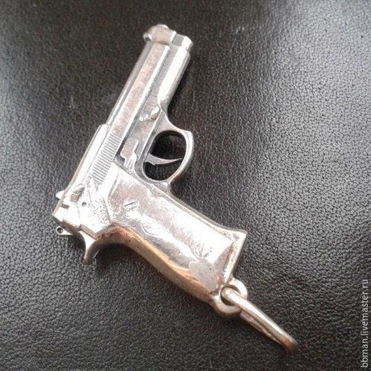 Кулон `Пистолет BERETTA`  - серебро 925