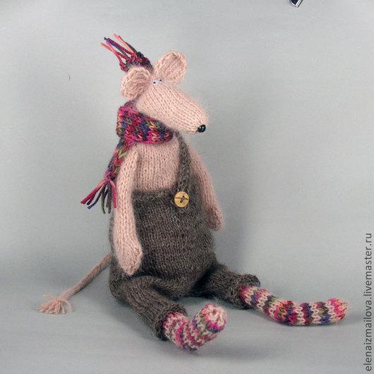 Игрушки животные, ручной работы. Ярмарка Мастеров - ручная работа. Купить Крысик для Катерины. Handmade. Крыса, теплый подарок, гранулят