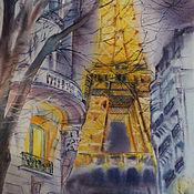Картины и панно ручной работы. Ярмарка Мастеров - ручная работа Картина Полночь в Париже. Handmade.