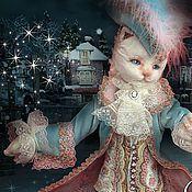 Куклы и игрушки ручной работы. Ярмарка Мастеров - ручная работа Кошачий карнавал ( кошка на коньках). Handmade.