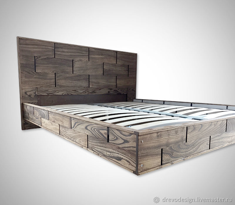 The original model of the bed made of wood, art. 0507, Bed, Belgorod,  Фото №1