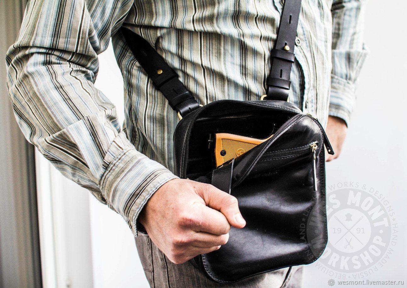 cbd087779fe3 Мужские сумки ручной работы. Ярмарка Мастеров - ручная работа. Купить Сумка  кожаная для скрытого ...