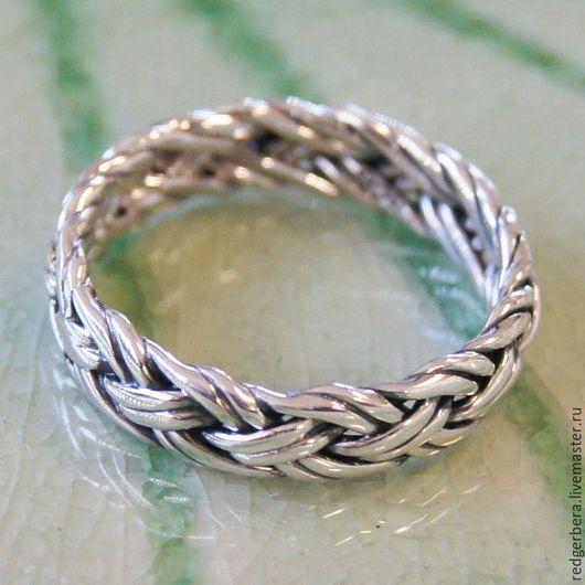 Кольца ручной работы. Ярмарка Мастеров - ручная работа. Купить Кольцо ручного плетения из серебра 925 пробы. Handmade.