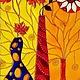 """Натюрморт ручной работы. Ярмарка Мастеров - ручная работа. Купить """"Натюрморт с ромашками"""" Витражная роспись стекла. Handmade. Натюрморт"""