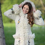 Одежда ручной работы. Ярмарка Мастеров - ручная работа Пальто вязаное 12wj23. Handmade.