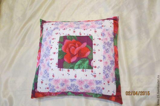 Текстиль, ковры ручной работы. Ярмарка Мастеров - ручная работа. Купить Подушка (наволочка) розовая. Handmade. Подушка декоративная, печворк