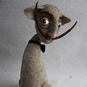 Куклы и игрушки ручной работы. Ярмарка Мастеров - ручная работа Кот Сальвадор валяный из шерсти. Handmade.