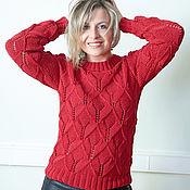 """Одежда ручной работы. Ярмарка Мастеров - ручная работа свитер """"бордо"""". Handmade."""