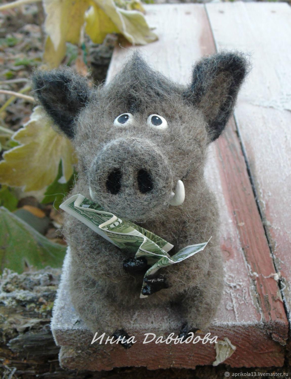 interior toy. Boar-symbol of the year, Stuffed Toys, Maloyaroslavets,  Фото №1