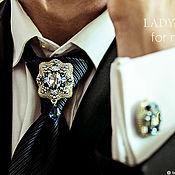Украшения handmade. Livemaster - original item Men`s brooch. Louis. Brooch tie. brooch for jacket.. Handmade.